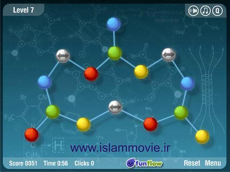 بازی آنلاین فلش بازی با فیزیک Atomic Flash Game