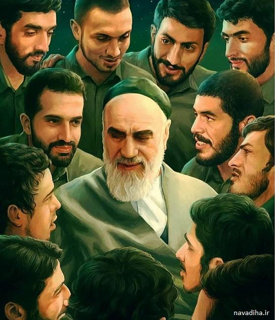 نقاشی زیبای امام و شهدا که شبکه های اجتماعی را ترکاند