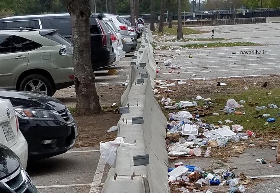 عکس فرهنگ بالای آمریکایی ها در آشغال نریختن!!!